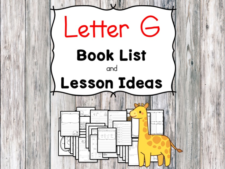 Teaching the letter G? Include some books include letter G sound. Here is the Letter G book list to teach the letter G sound.