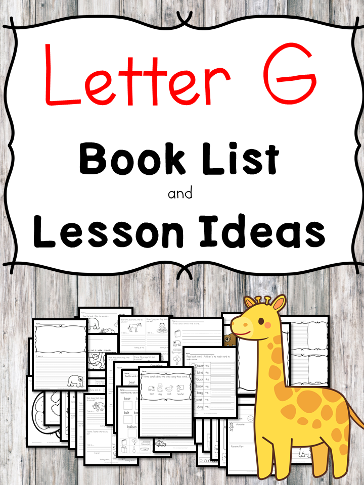 Teaching the letter G? Include some books include letter G sound. Here is the Letter G book list to teach the short letter G sound.