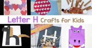 Letter H Crafts for preschool or kindergarten - Fun, easy and educational!