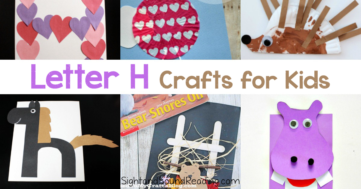 Letter H Crafts for preschool or kindergarten Fun easy and