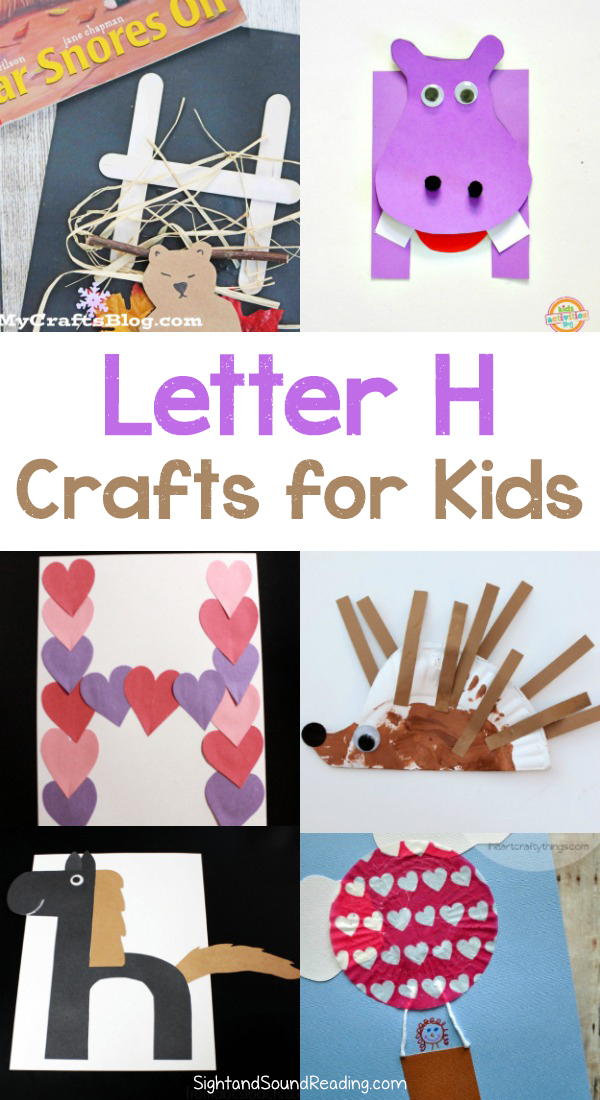 H Crafts for preschool or kindergarten Fun easy and educational
