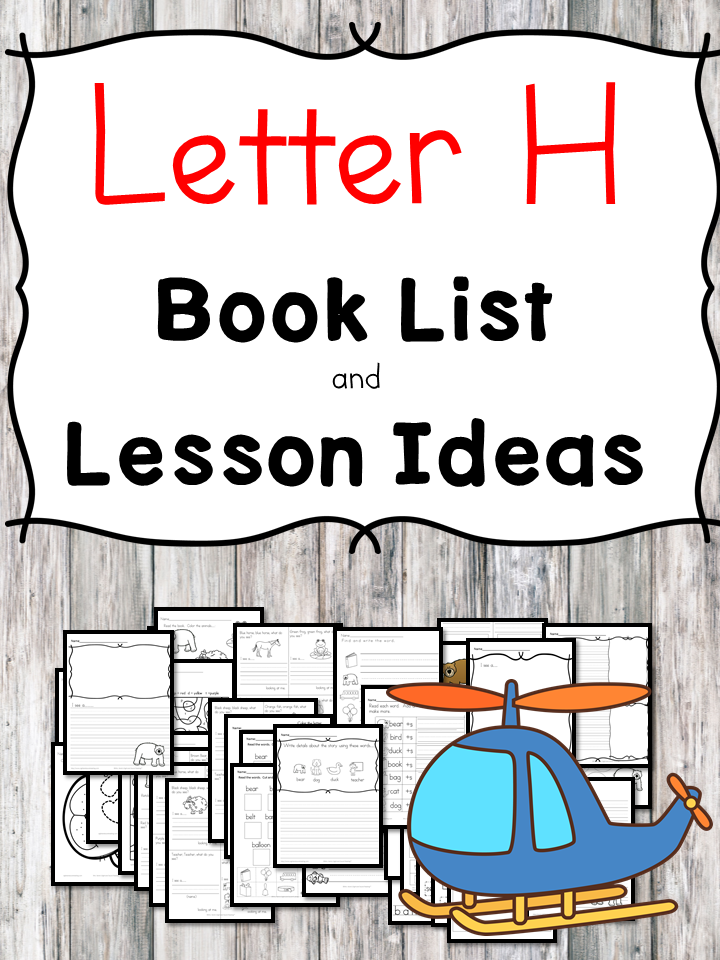 Teaching the letter H? Include some books include letter H sound. Here is the Letter H book list to teach the short letter H sound.