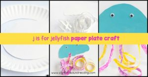 Kids will love making these Letter J Craft: jellyfish paper plate when studying the letter J. You can make this craft with ocean, beach, or summer theme!