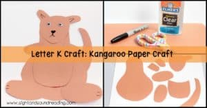 Letter K Craft Kangaroo Paper Craft