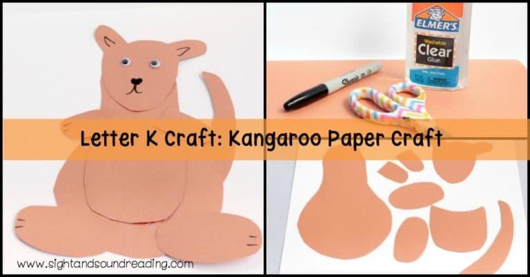 Letter K Craft: Kangaroo Paper Craft