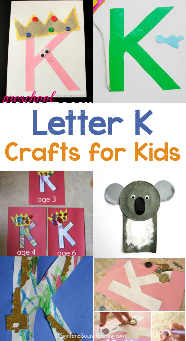 Letter K Crafts for preschool or kindergarten - Fun, easy and educational!