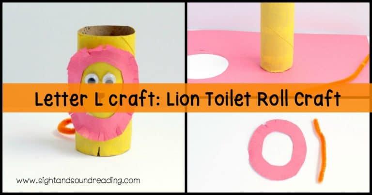 Letter L craft: Lion Toilet Roll Craft