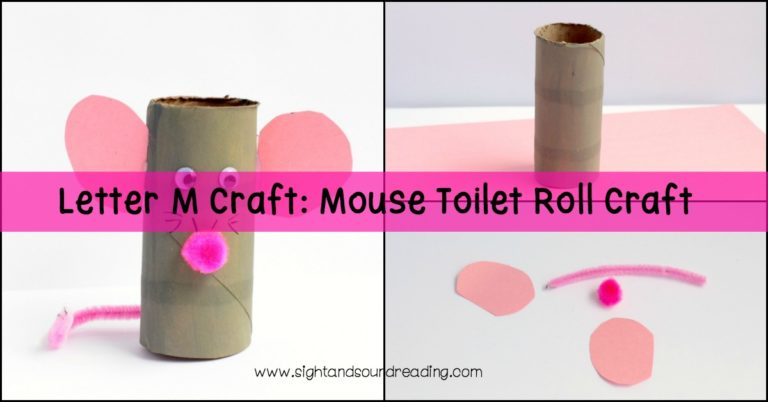 Letter M Craft: Mouse Toilet Roll Craft