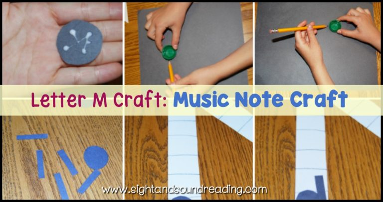 Letter M Craft: Music Note Craft