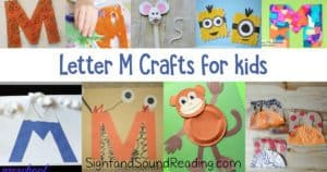 Letter M Crafts for preschool or kindergarten - Fun, easy and educational!