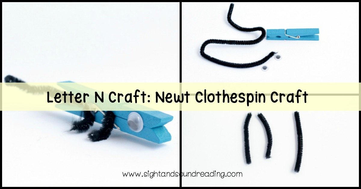 The N is for newt clothespin craft is the perfect craft to make during N week in kindergarten or preschool! Let's do the Letter N Craft.