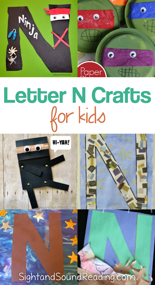 Letter N Crafts for preschool or kindergarten - Fun, easy and educational!