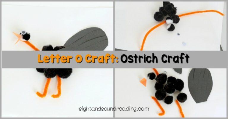 Letter O Craft: Ostrich Craft