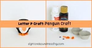 This Letter P craft: Penguin Craft is easy enough for kindergarten children, and it just takes a few recycled materials to put together.