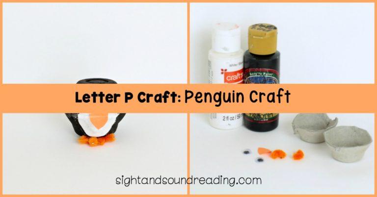 Letter P Craft: Penguin Craft