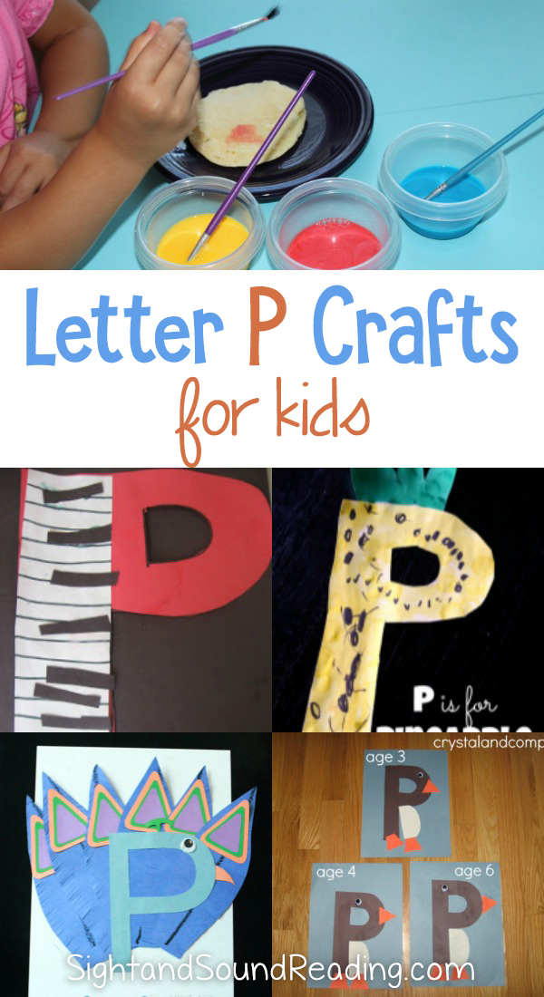 Letter P Crafts for preschool or kindergarten - Fun, easy and educational!