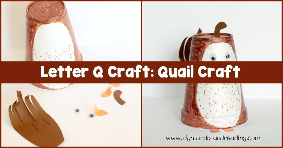 If you are learning about the letter Q, don't miss this fun Letter Q craft. Quail craft made using a brown paper cup and some other supplies.