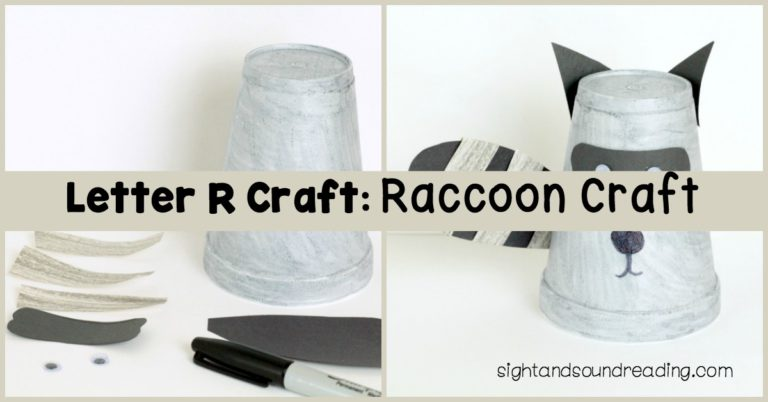 Letter R Craft: Raccoon Craft