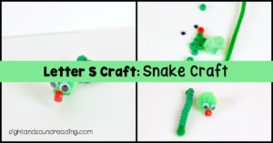 When studying the letter S, the snake is the perfect creature to illustrate how the letter sounds, Here is the Letter S Craft: Snake Craft.