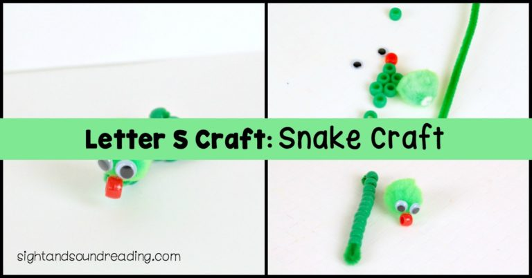 Letter S Craft: Snake Craft