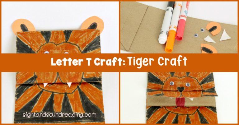 Letter T Craft: Tiger Craft