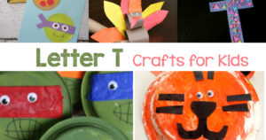 Letter T crafts for preschool or kindergarten