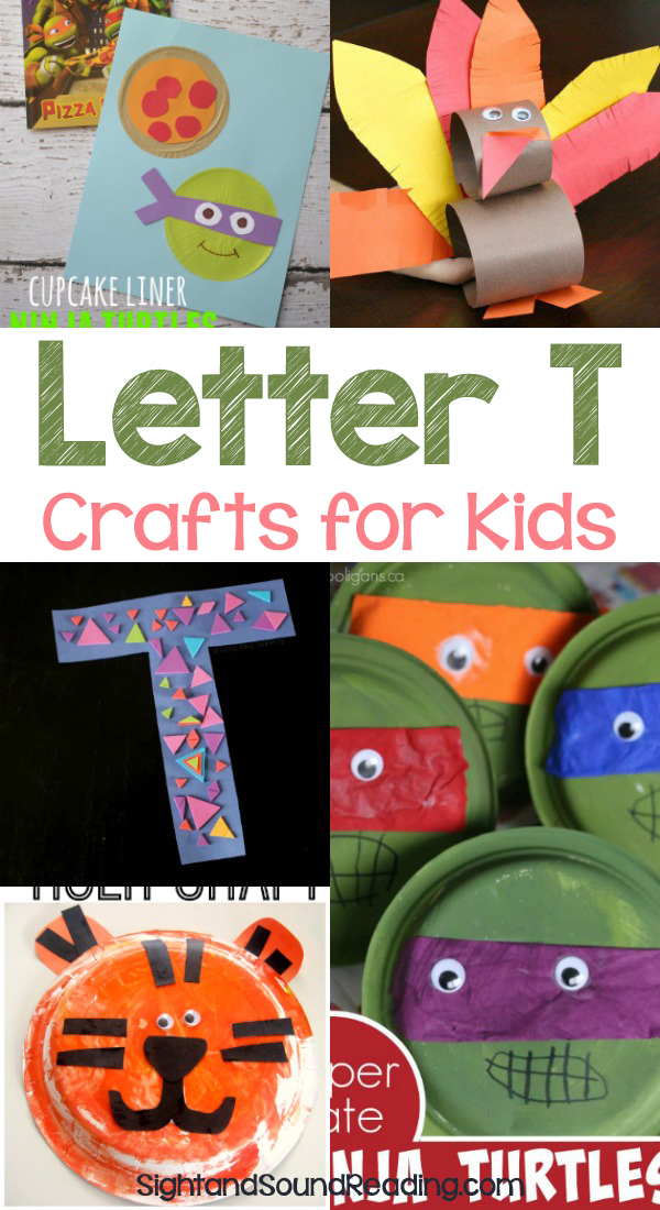 Letter T Crafts for preschool or kindergarten - Fun, easy and educational!