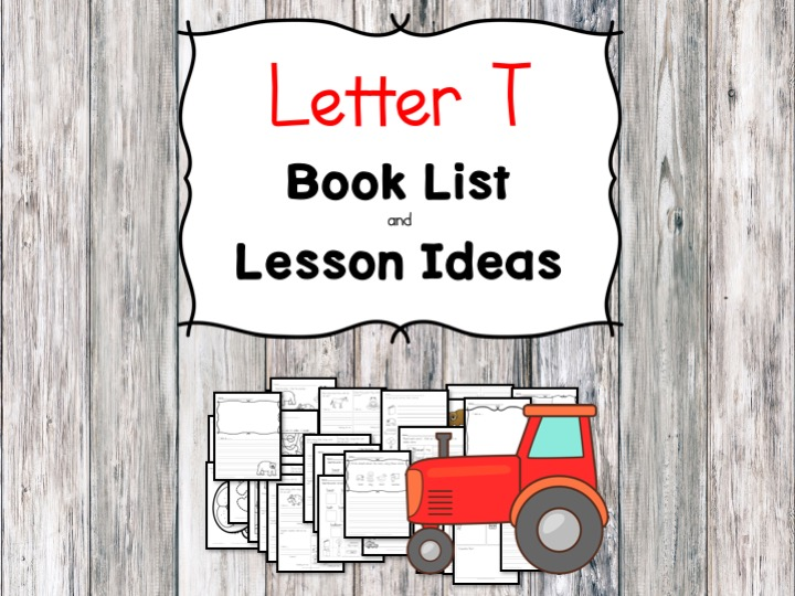 Teaching the letter T? Include some books include letter T sound. Here is the Letter T book list to teach the letter T sound.