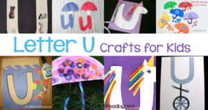 Letter U crafts for preschool and kindergarten