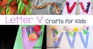 Letter v crafts for preschool and kindergarten