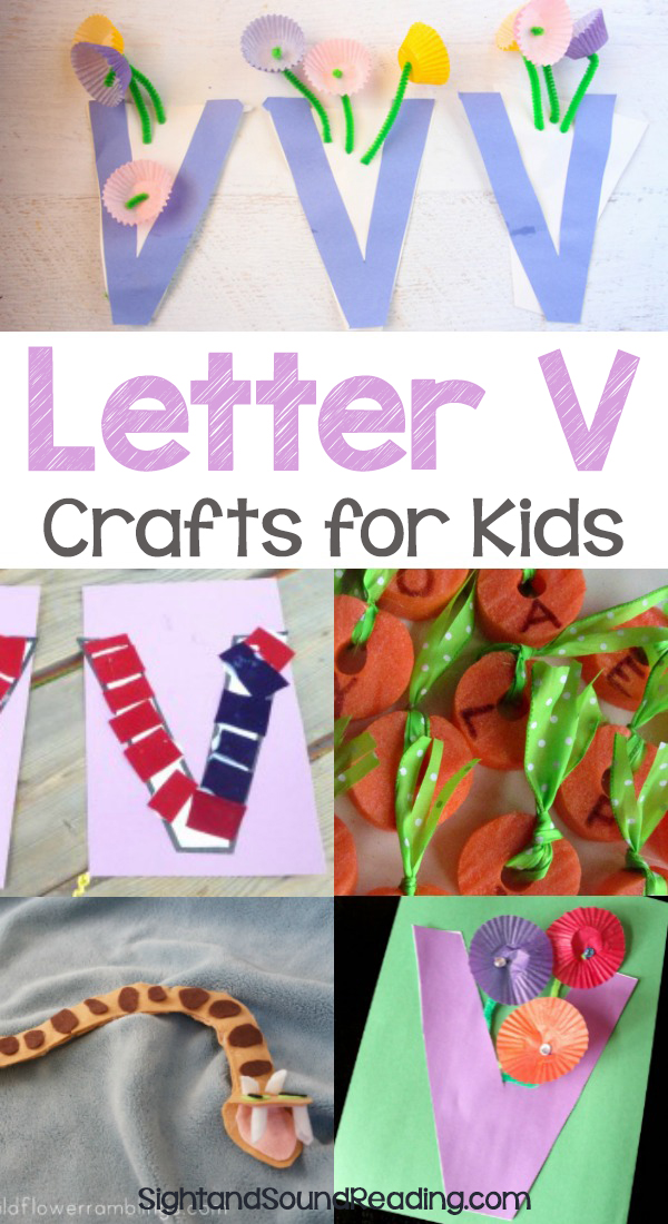 Letter V Crafts for preschool or kindergarten - Fun, easy and educational!