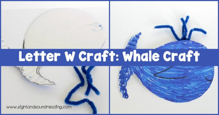 Letter W Craft: Whale Craft