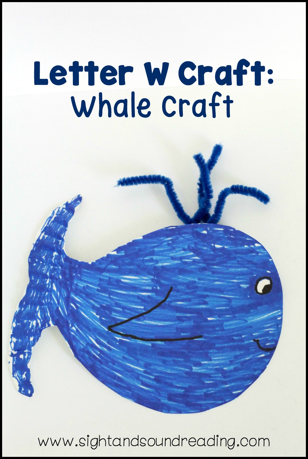 When it comes to learning the letter W, the whale is the first animal that comes to mind for the letter W Craft. Whales are tons of fun.