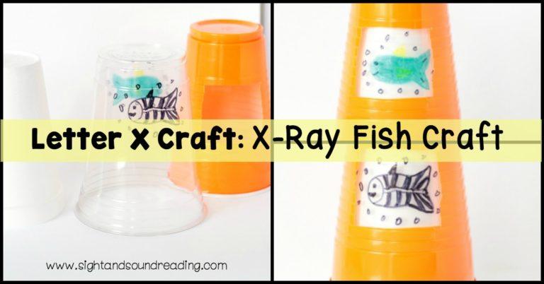 Letter X Craft: X-Ray Fish Craft