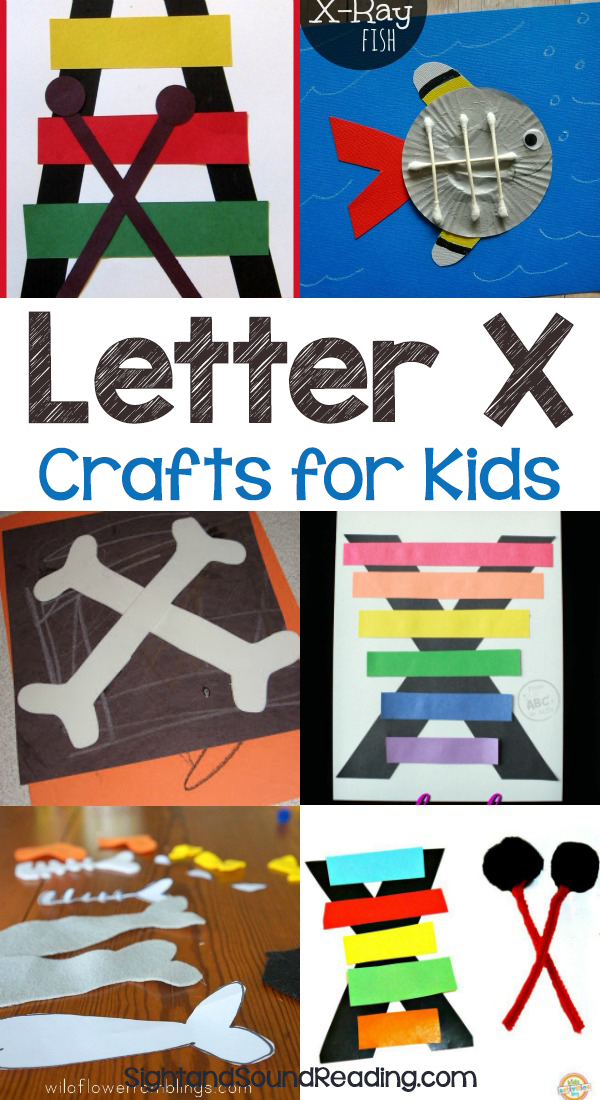 Letter X Crafts for preschool or kindergarten - Fun, easy and educational!