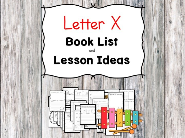 Teaching the letter X? Include some books include letter X sound. Here is the Letter X book list to teach the letter X sound.