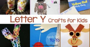 Letter Y Crafts for preschool or kindergarten - Fun, easy and educational!