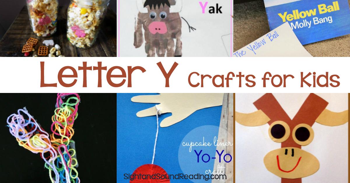 Letter Y Crafts For Preschool Or Kindergarten