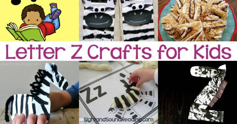 Letter Z Crafts