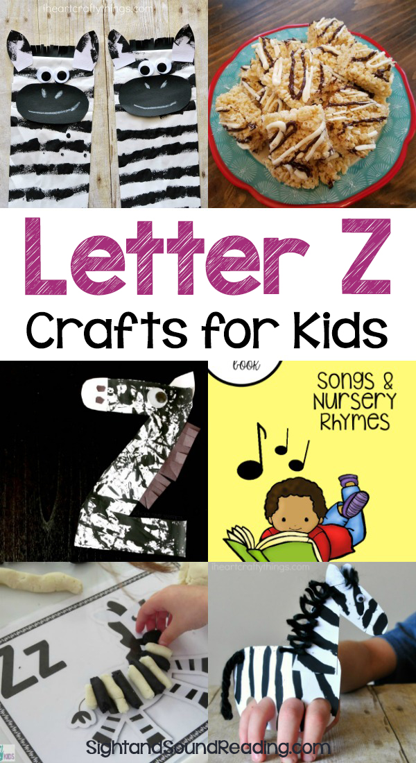 Letter Z Crafts for preschool or kindergarten - Fun, easy and educational! Students will have fun learning and making these fun crafts!