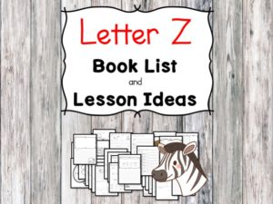 Teaching the letter Z? Include some books include letter Z sound. Here is the Letter Z book list to teach the letter Z sound.