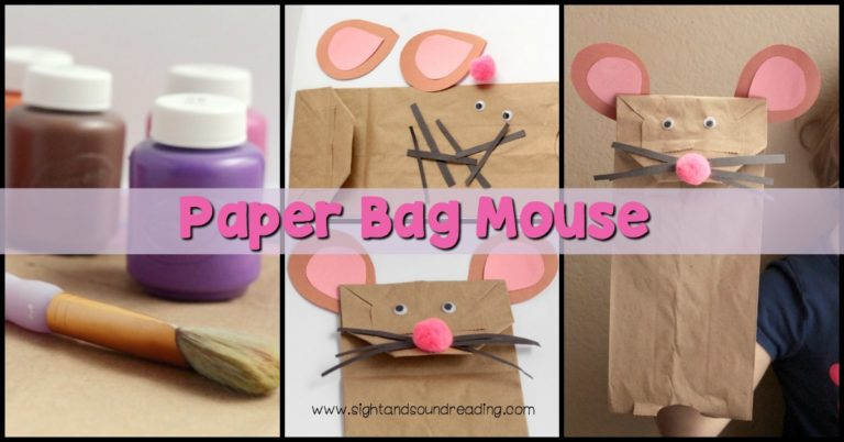 Paper Bag Mouse Puppet Craft