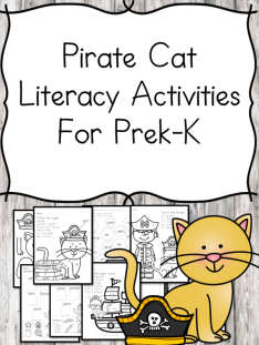 Pirate Cat Literacy Themed Activities
