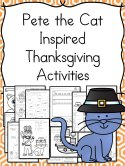 Pete the Cat inspired Thanksgiving activities