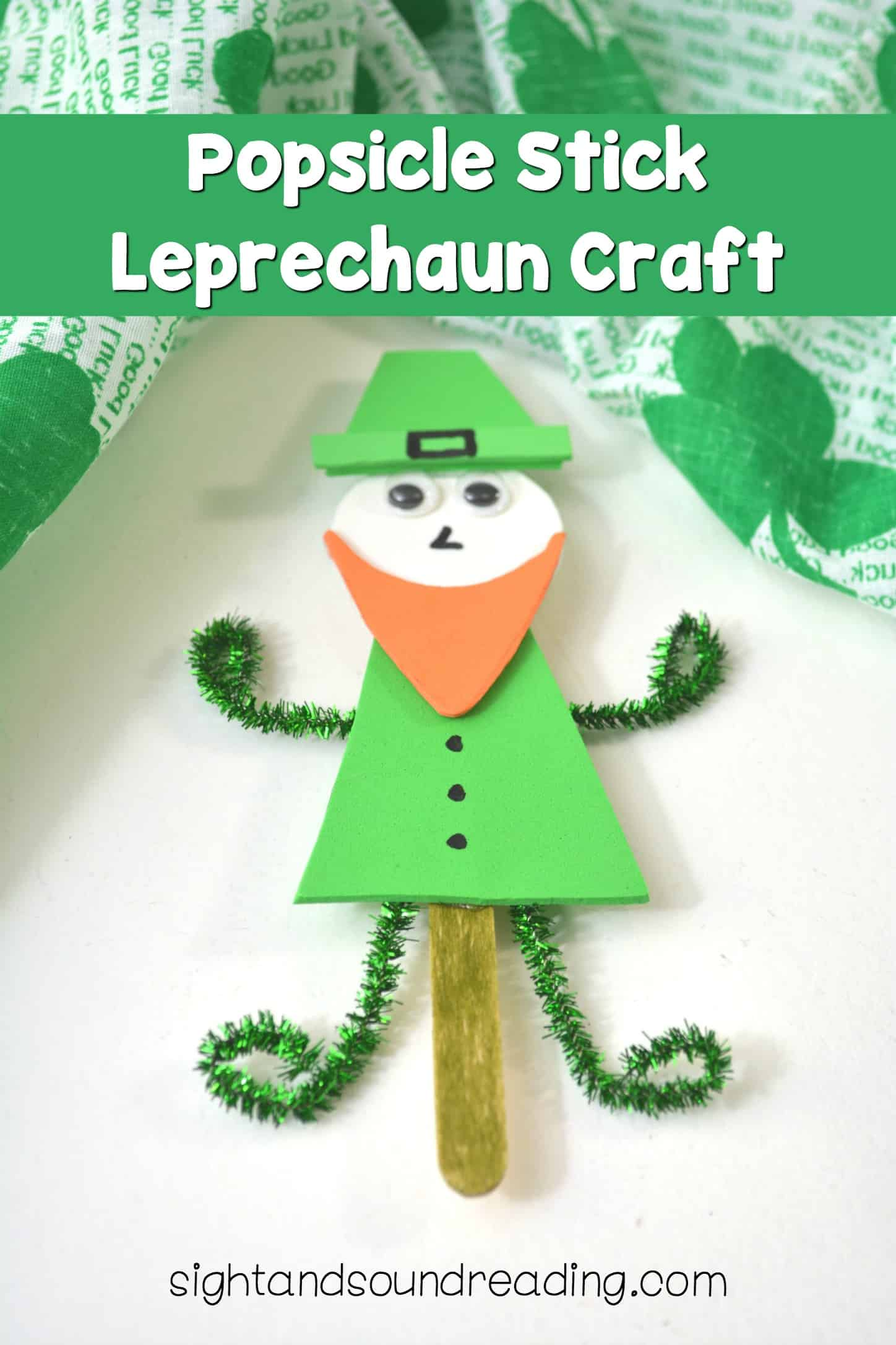 As St. Patrick's Day is in the corner, today I would like to share a very cute popsicle stick Leprechaun craft for you to have some fun with children welcoming St. Patrick's Day. This adorable craft is great to display around. You might also make some variation out of it.
