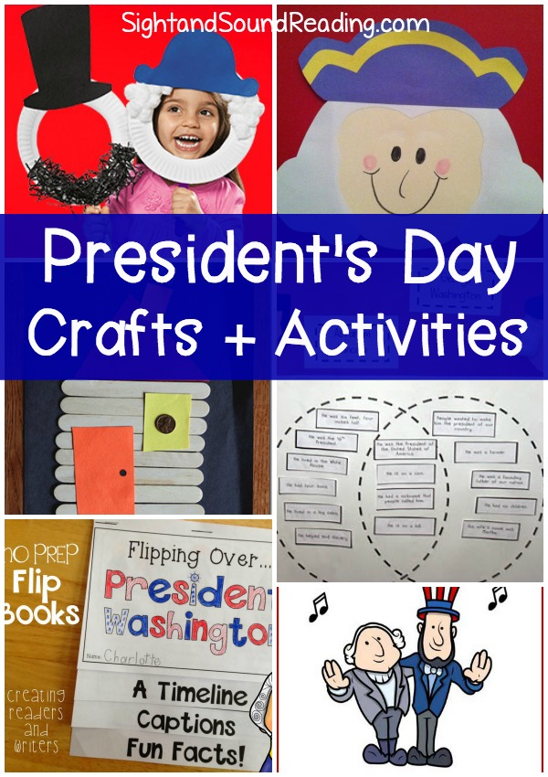 Cute and fun Presidents Day crafts and activities for preschool and kindergarten age children. Make learning fun!