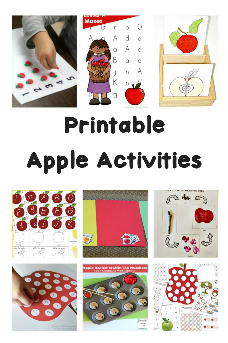 Printable Fall Worksheets and Activities - for literacy, science, math and more! Great for preschool, kindergarten and first grade.