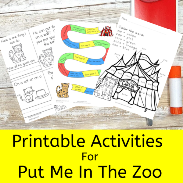 Put Me in the Zoo Activities