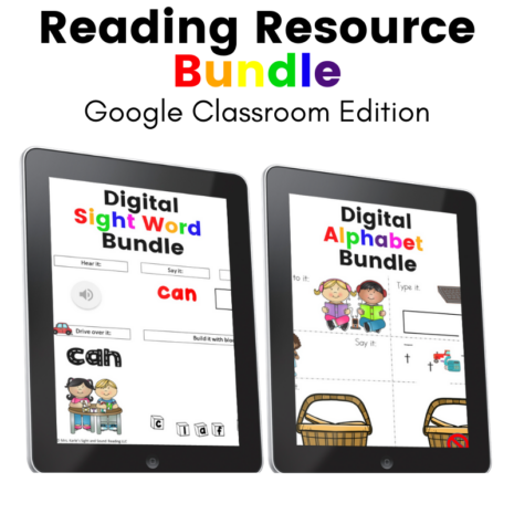Reading Resources Bundle Google Classroom Edition