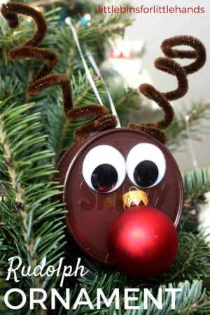 Rudolph Ornament Christmas Ornament Craft for Kids